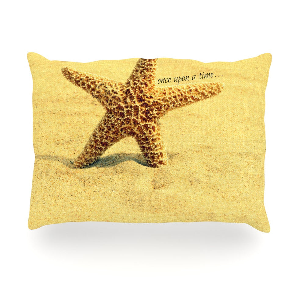 "Robin Dickinson ""Once upon a Time"" Starfish Oblong Pillow - KESS InHouse"