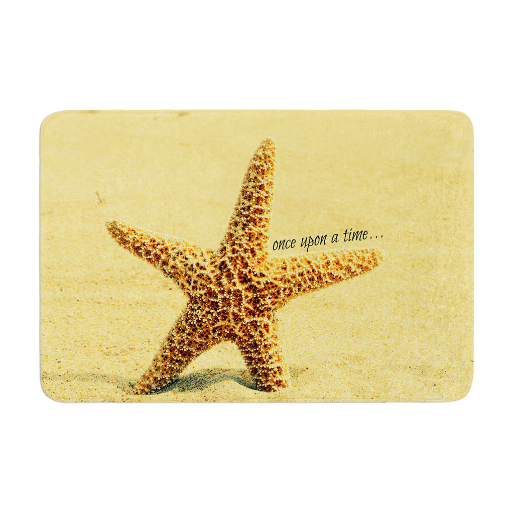"Robin Dickinson ""Once upon a Time"" Starfish Memory Foam Bath Mat - KESS InHouse"