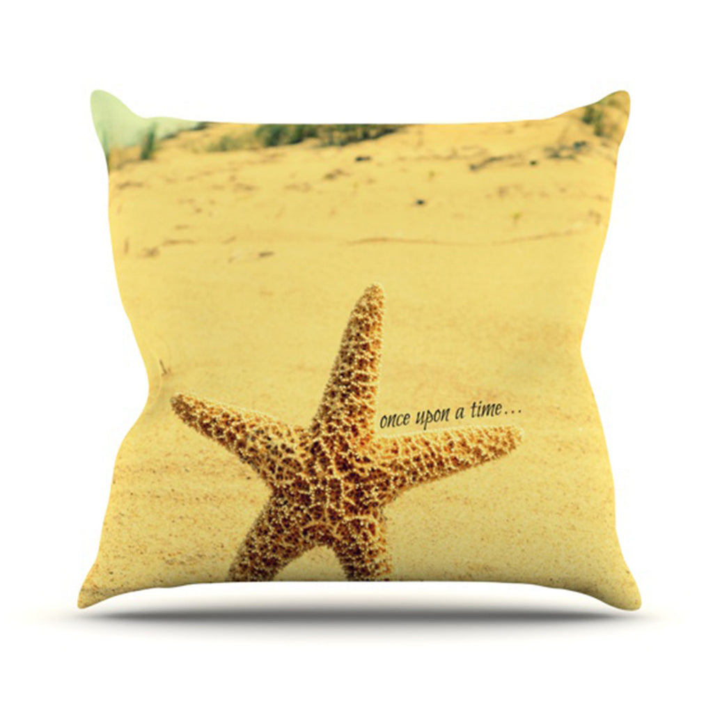 "Robin Dickinson ""Once upon a Time"" Starfish Throw Pillow - KESS InHouse  - 1"