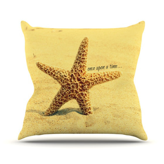 "Robin Dickinson ""Once upon a Time"" Starfish Outdoor Throw Pillow - KESS InHouse  - 1"