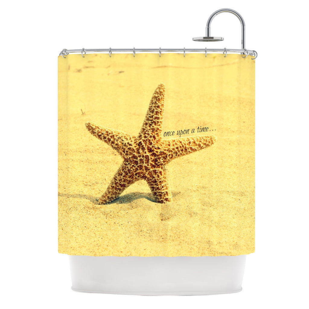 "Robin Dickinson ""Once upon a Time"" Starfish Shower Curtain - KESS InHouse"