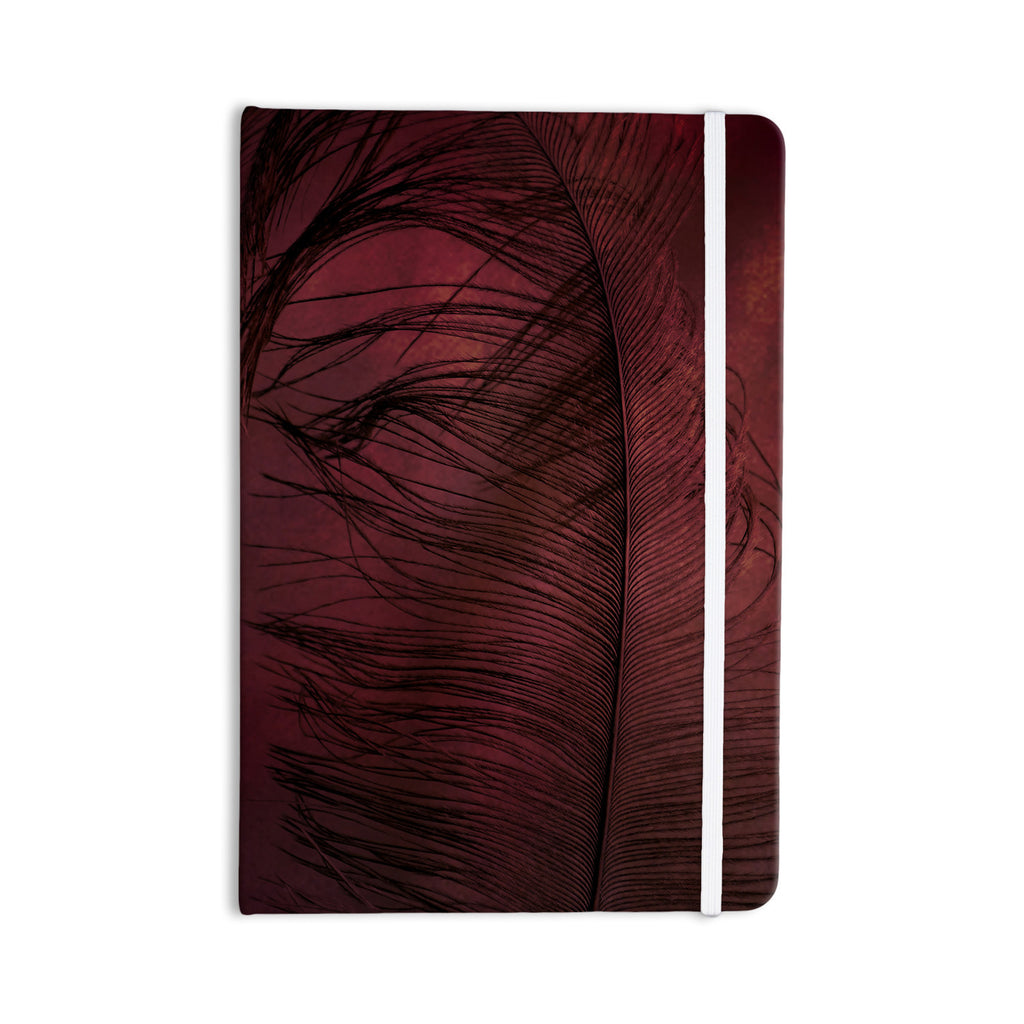 "Robin Dickinson ""Plumtickled"" Maroon Red Everything Notebook - KESS InHouse  - 1"