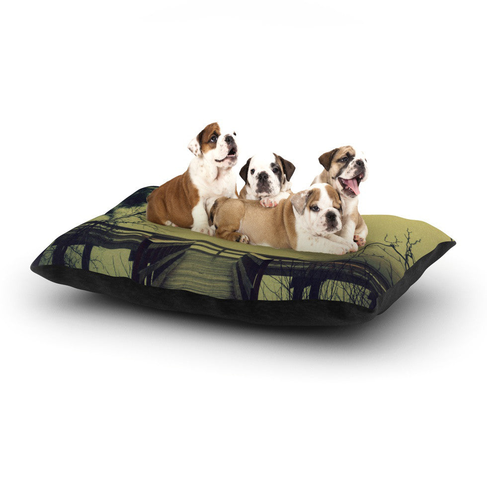"Robin Dickinson ""Fog on the River"" Dog Bed - KESS InHouse  - 1"