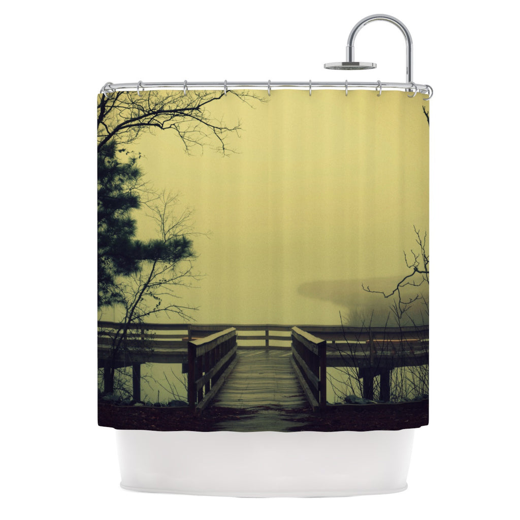 "Robin Dickinson ""Fog on the River"" Shower Curtain - KESS InHouse"