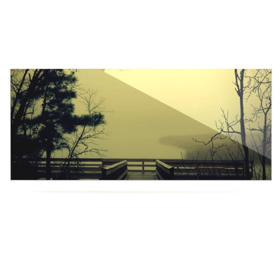 "Robin Dickinson ""Fog on the River"" Luxe Rectangle Panel - KESS InHouse  - 1"