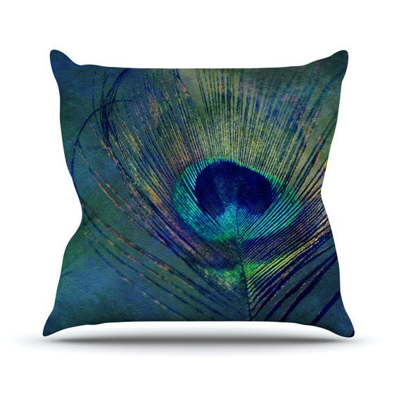 "Robin Dickinson ""Plume"" Outdoor Throw Pillow - KESS InHouse  - 1"