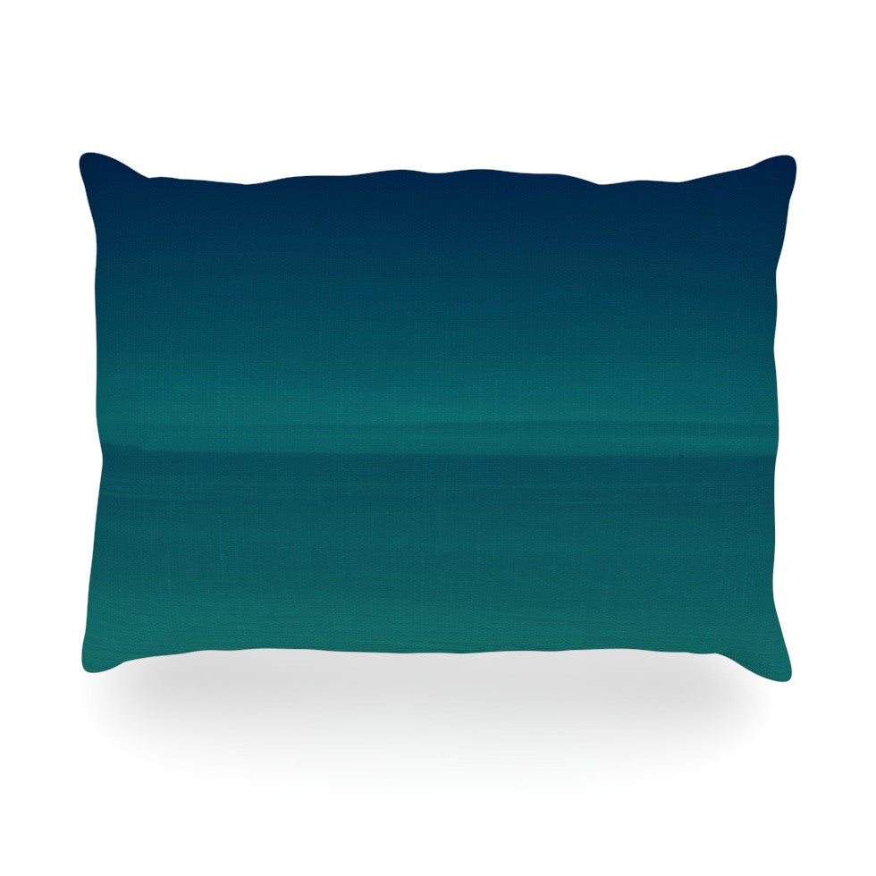 "Robin Dickinson ""When We're Together"" Teal Oblong Pillow - KESS InHouse"