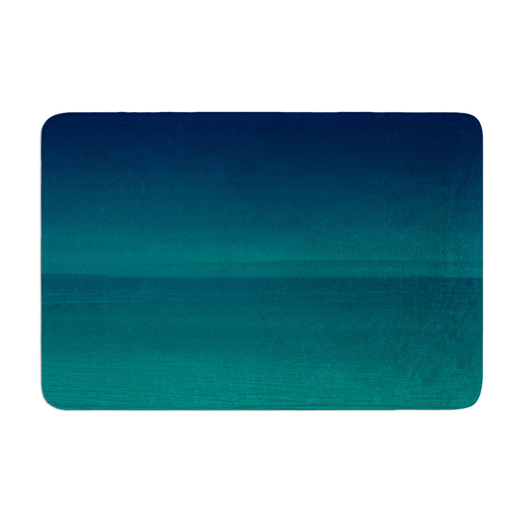 "Robin Dickinson ""When We're Together"" Teal Memory Foam Bath Mat - KESS InHouse"