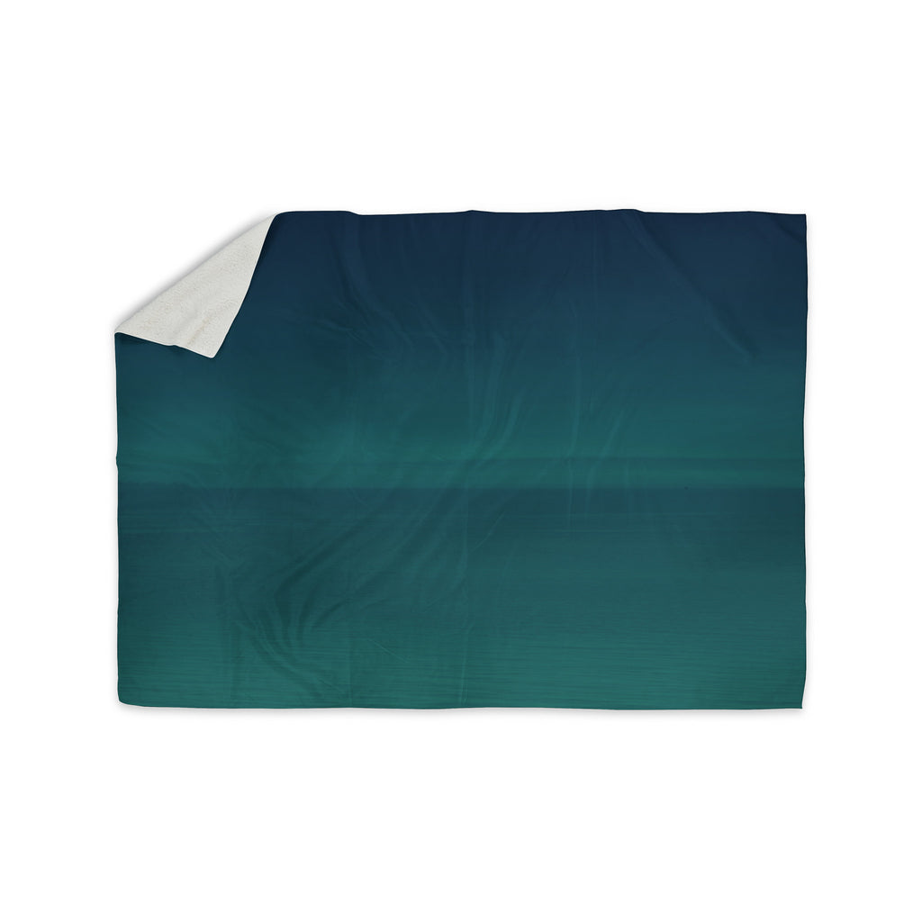 "Robin Dickinson ""When We're Together"" Teal Sherpa Blanket - KESS InHouse  - 1"