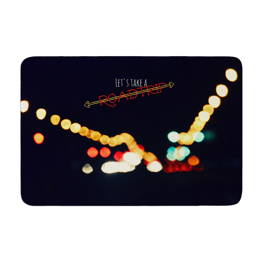 "Robin Dickinson ""Road Trip"" Memory Foam Bath Mat - KESS InHouse"