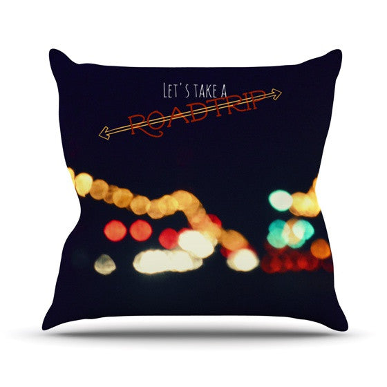 "Robin Dickinson ""Road Trip"" Throw Pillow - KESS InHouse  - 1"