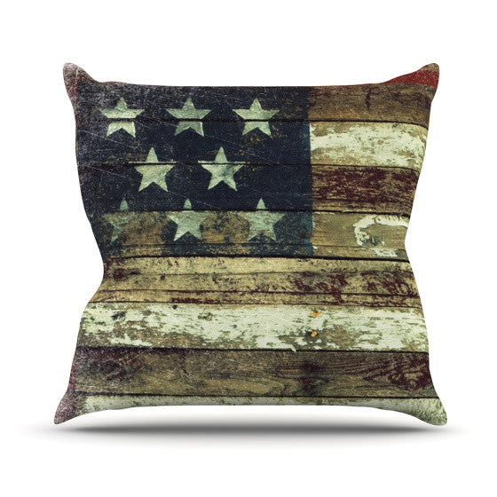 "Robin Dickinson ""Oh Beautiful"" Throw Pillow - KESS InHouse  - 1"