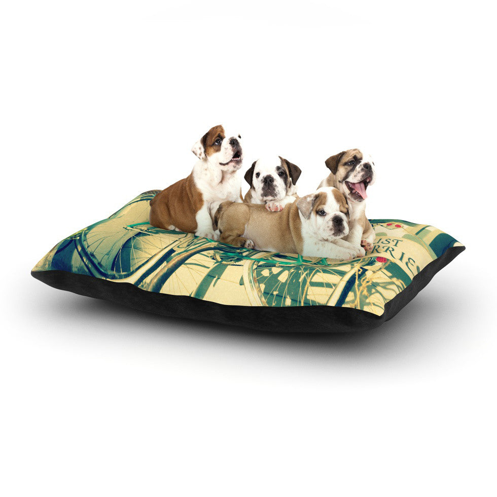 "Robin Dickinson ""Just Married"" Dog Bed - KESS InHouse  - 1"