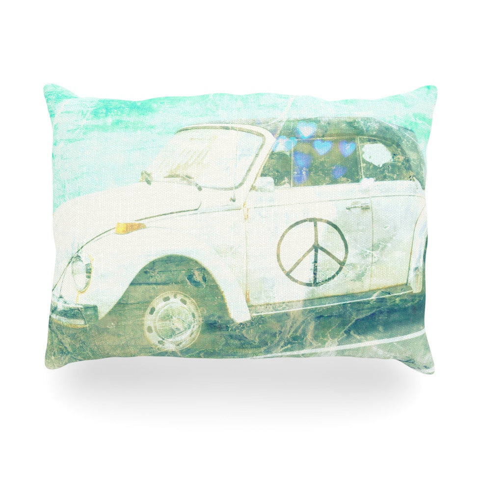 "Robin Dickinson ""Love Bug"" Oblong Pillow - KESS InHouse"