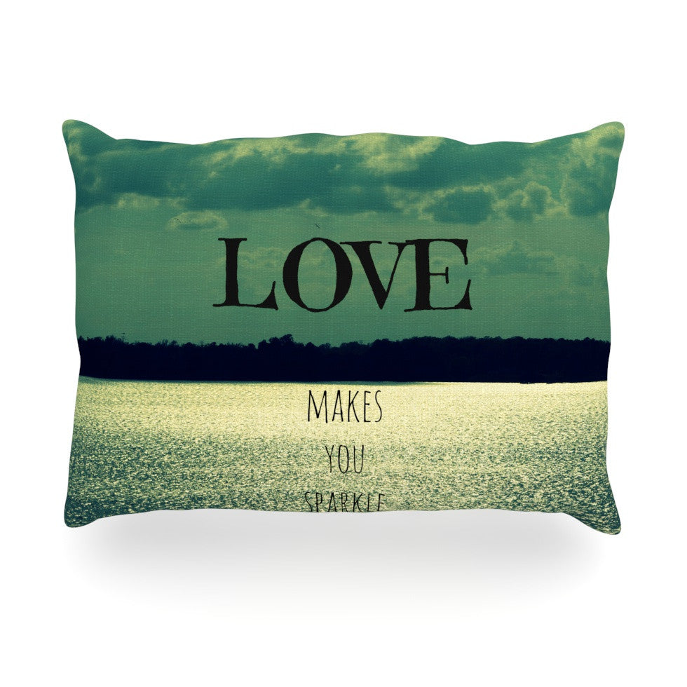 "Robin Dickinson ""Love Makes You Sparkle"" Oblong Pillow - KESS InHouse"