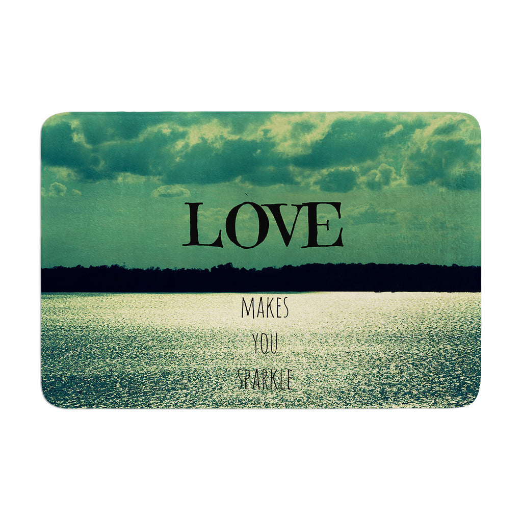 "Robin Dickinson ""Love Makes You Sparkle"" Memory Foam Bath Mat - KESS InHouse"