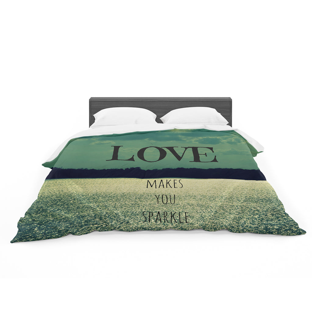"Robin Dickinson ""Love Makes You Sparkle"" Cotton Duvet"