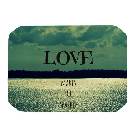 "Robin Dickinson ""Love Makes You Sparkle"" Place Mat - KESS InHouse"
