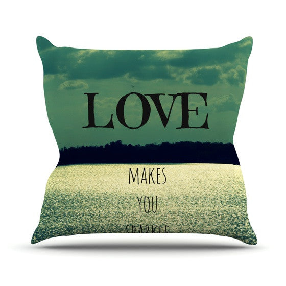 "Robin Dickinson ""Love Makes You Sparkle"" Throw Pillow - KESS InHouse  - 1"