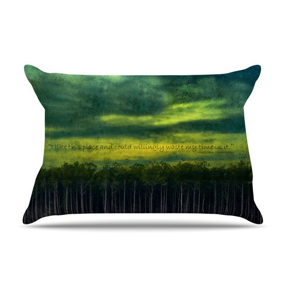 "Robin Dickinson ""I Like This Place"" Pillow Sham - KESS InHouse"