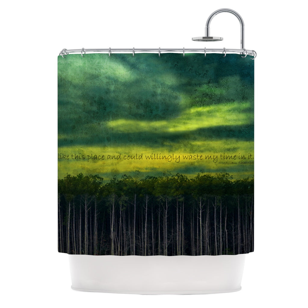 "Robin Dickinson ""I Like This Place"" Shower Curtain - KESS InHouse"