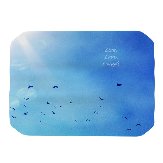 "Robin Dickinson ""Live Love Laugh"" Place Mat - KESS InHouse"