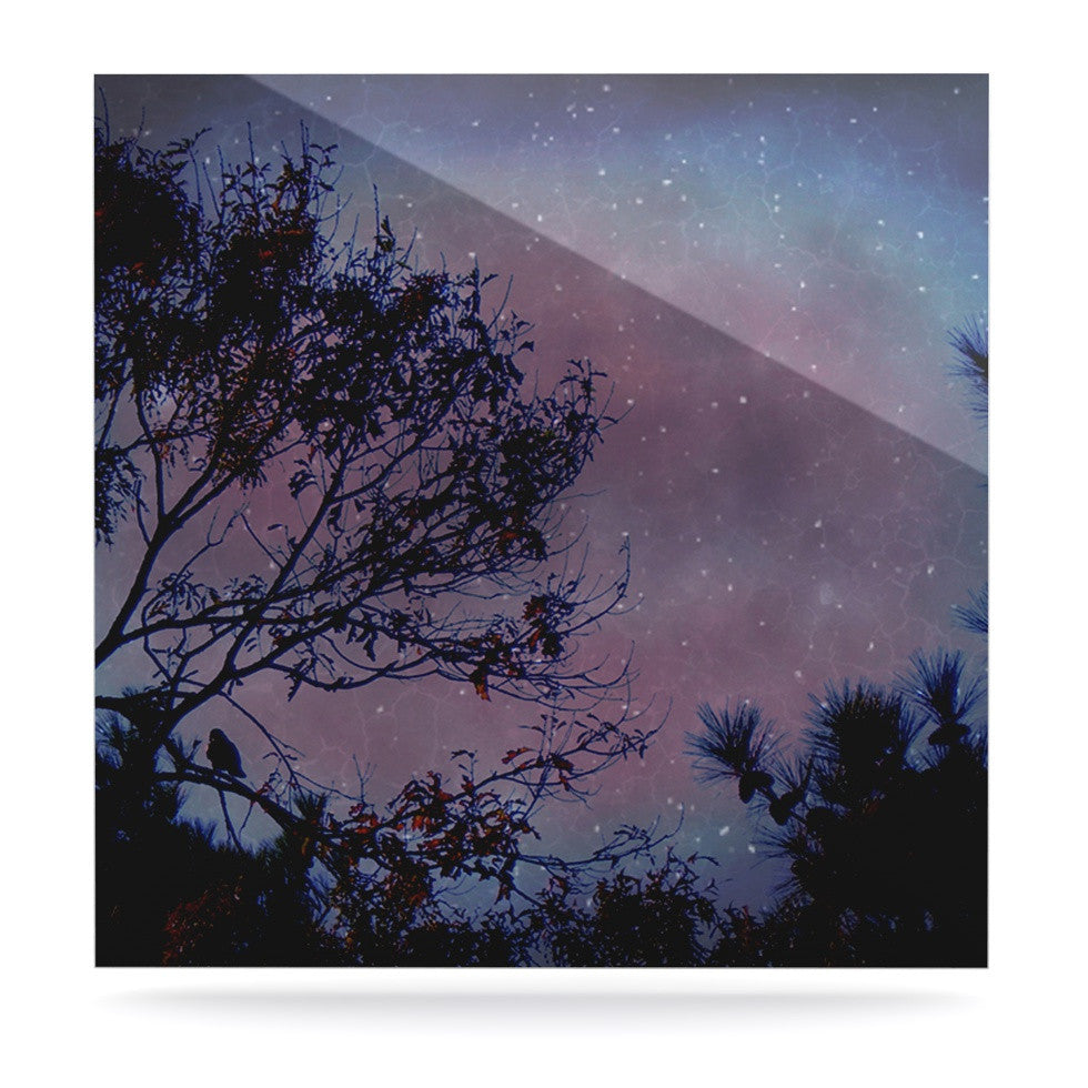 "Robin Dickinson ""Twilight"" Purple Tree Luxe Square Panel - KESS InHouse  - 1"