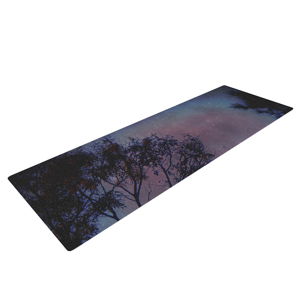 "Robin Dickinson ""Twilight"" Purple Tree Yoga Mat - KESS InHouse  - 1"