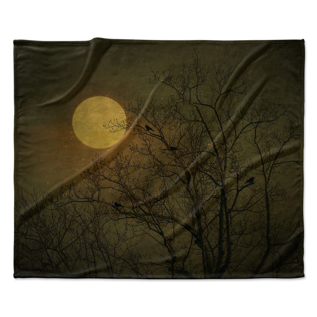 "Robin Dickinson ""Starry Night"" Fleece Throw Blanket"