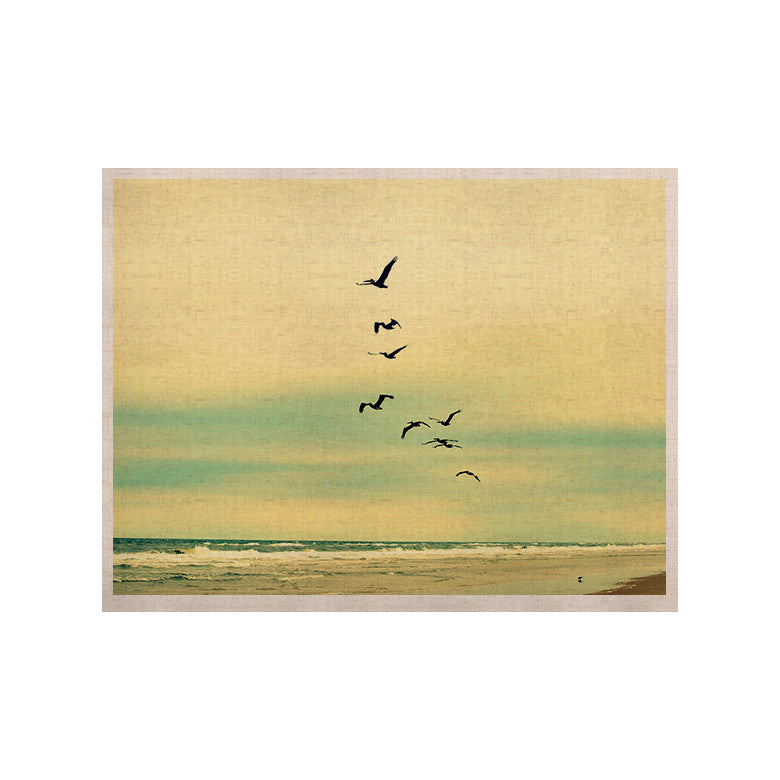 "Robin Dickinson ""Across The Endless Sea"" Birds KESS Naturals Canvas (Frame not Included) - KESS InHouse  - 1"