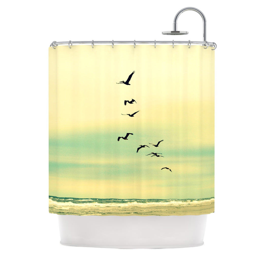 "Robin Dickinson ""Across The Endless Sea"" Birds Shower Curtain - KESS InHouse"