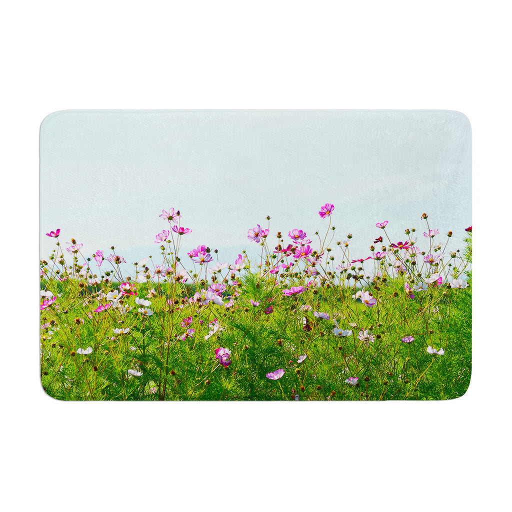 "Robin Dickinson ""I Choose Magic"" Flowers Memory Foam Bath Mat - KESS InHouse"