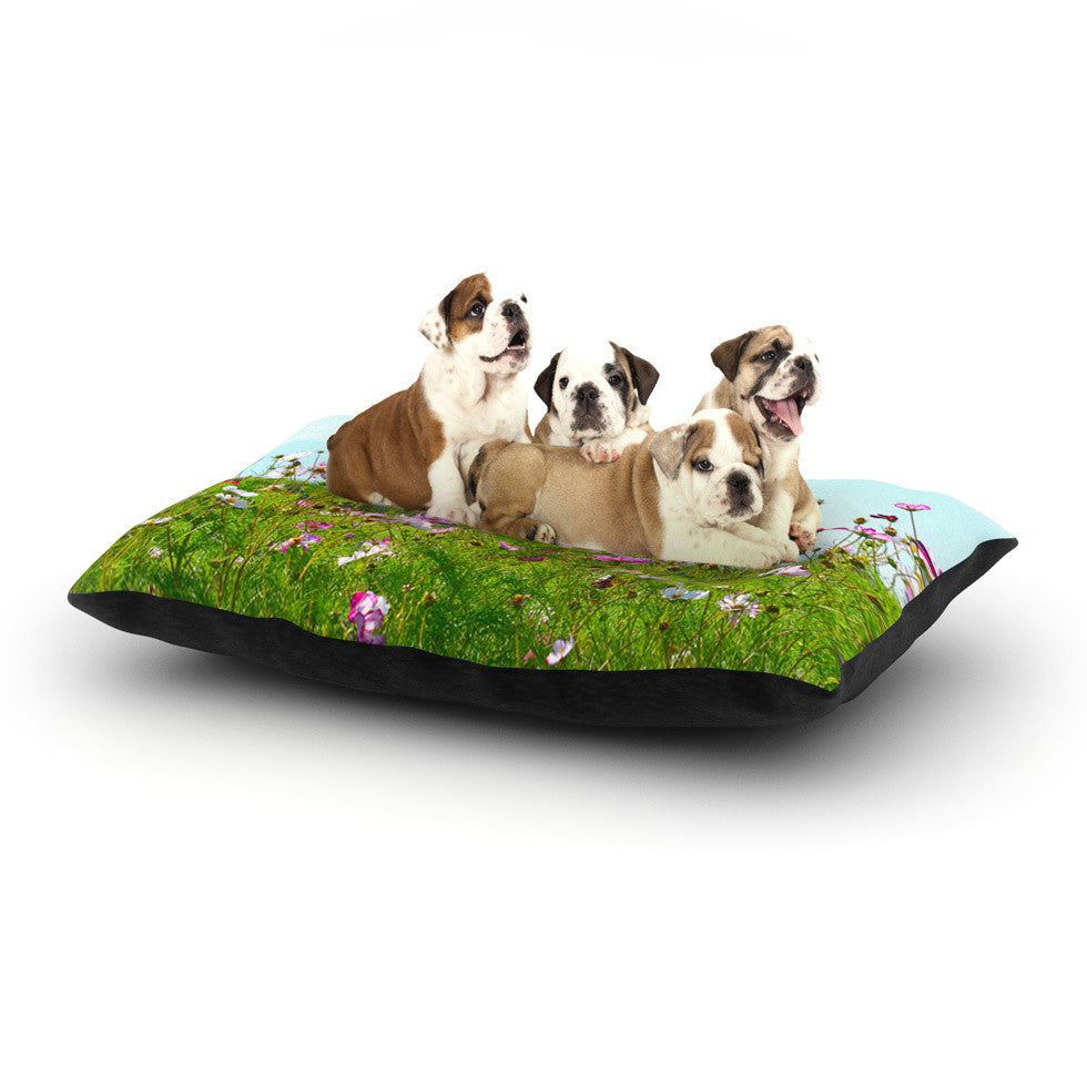 "Robin Dickinson ""I Choose Magic"" Flowers Dog Bed - KESS InHouse  - 1"