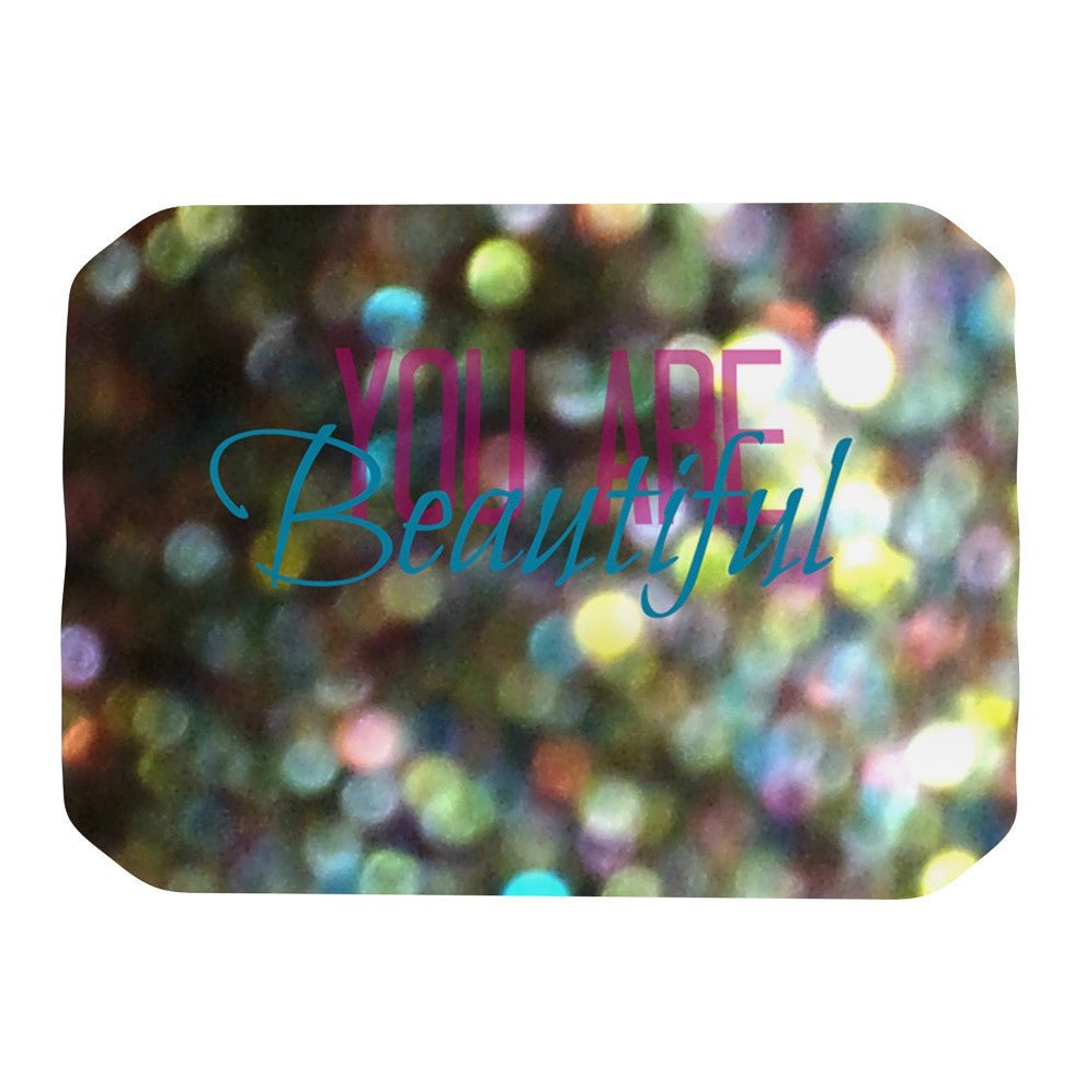 "Robin Dickinson ""You Are Beautiful II"" Art Object Place Mat - KESS InHouse"
