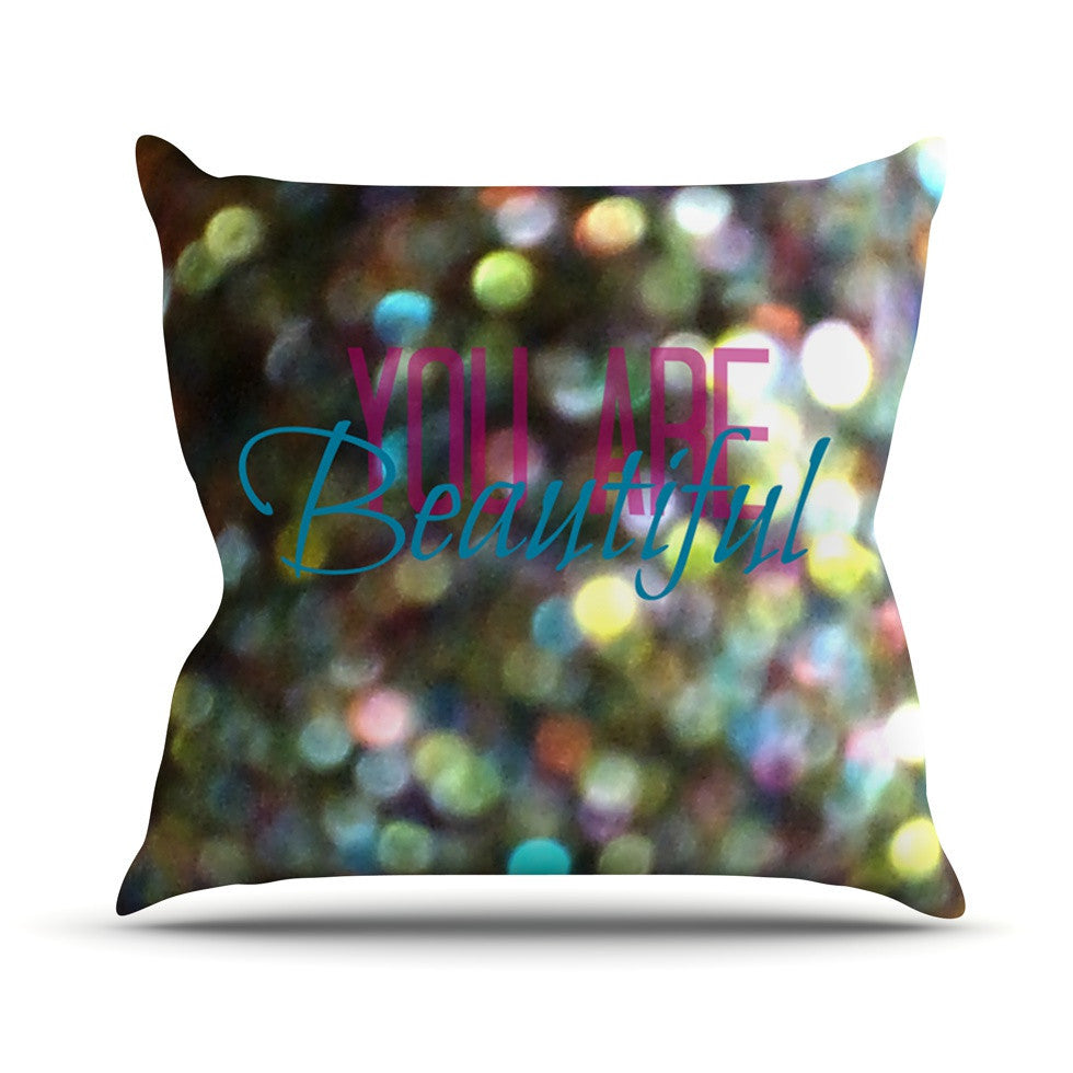 "Robin Dickinson ""You Are Beautiful II"" Art Object Outdoor Throw Pillow - KESS InHouse  - 1"