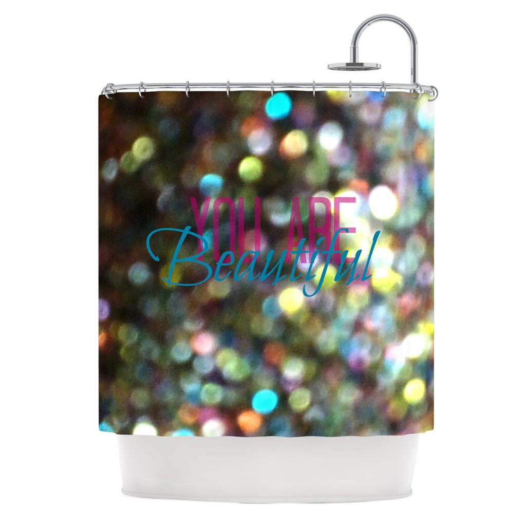 "Robin Dickinson ""You Are Beautiful II"" Art Object Shower Curtain - KESS InHouse"