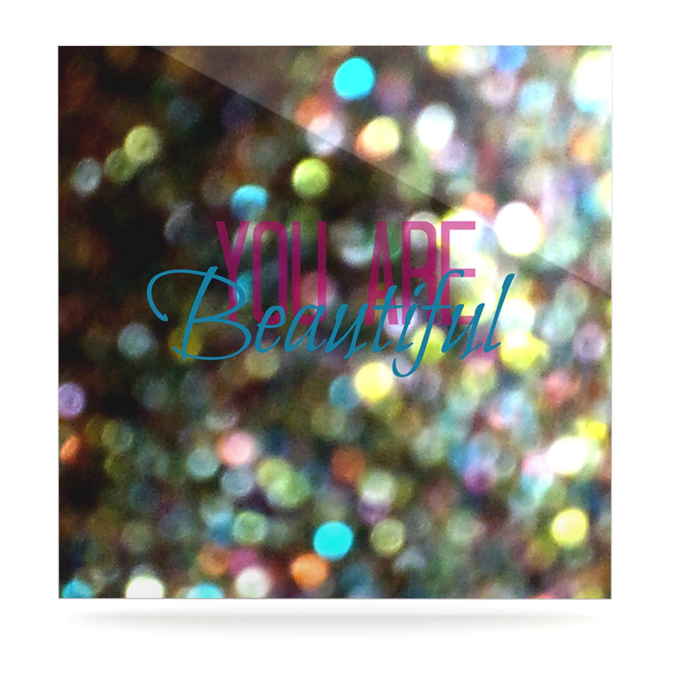 "Robin Dickinson ""You Are Beautiful II"" Art Object Luxe Square Panel - KESS InHouse  - 1"