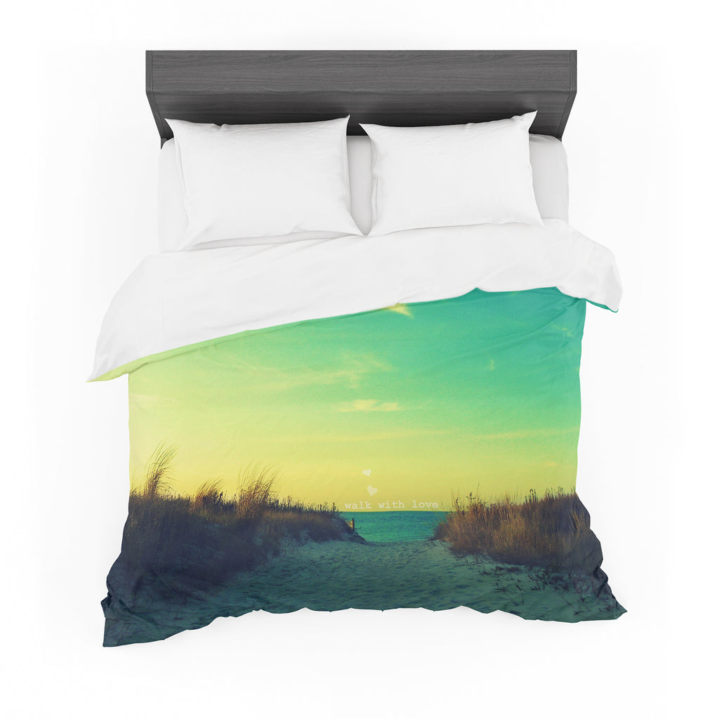 "Robin Dickinson ""Walk With Love"" Cotton Duvet"