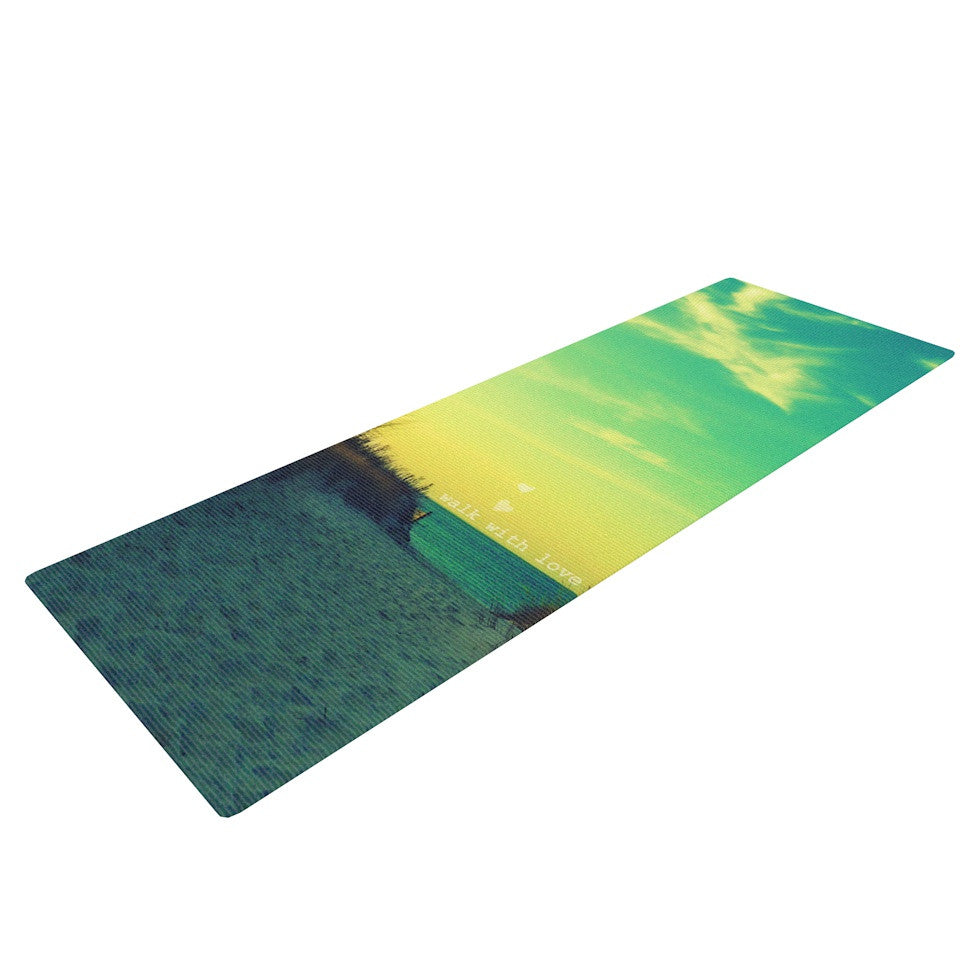 "Robin Dickinson ""Walk With Love"" Yoga Mat - KESS InHouse  - 1"