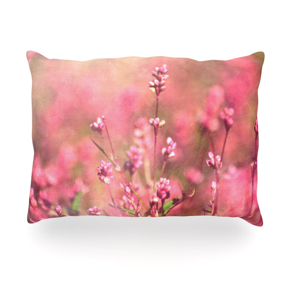 "Robin Dickinson ""Its a Sweet Sweet Life"" Flowers Oblong Pillow - KESS InHouse"