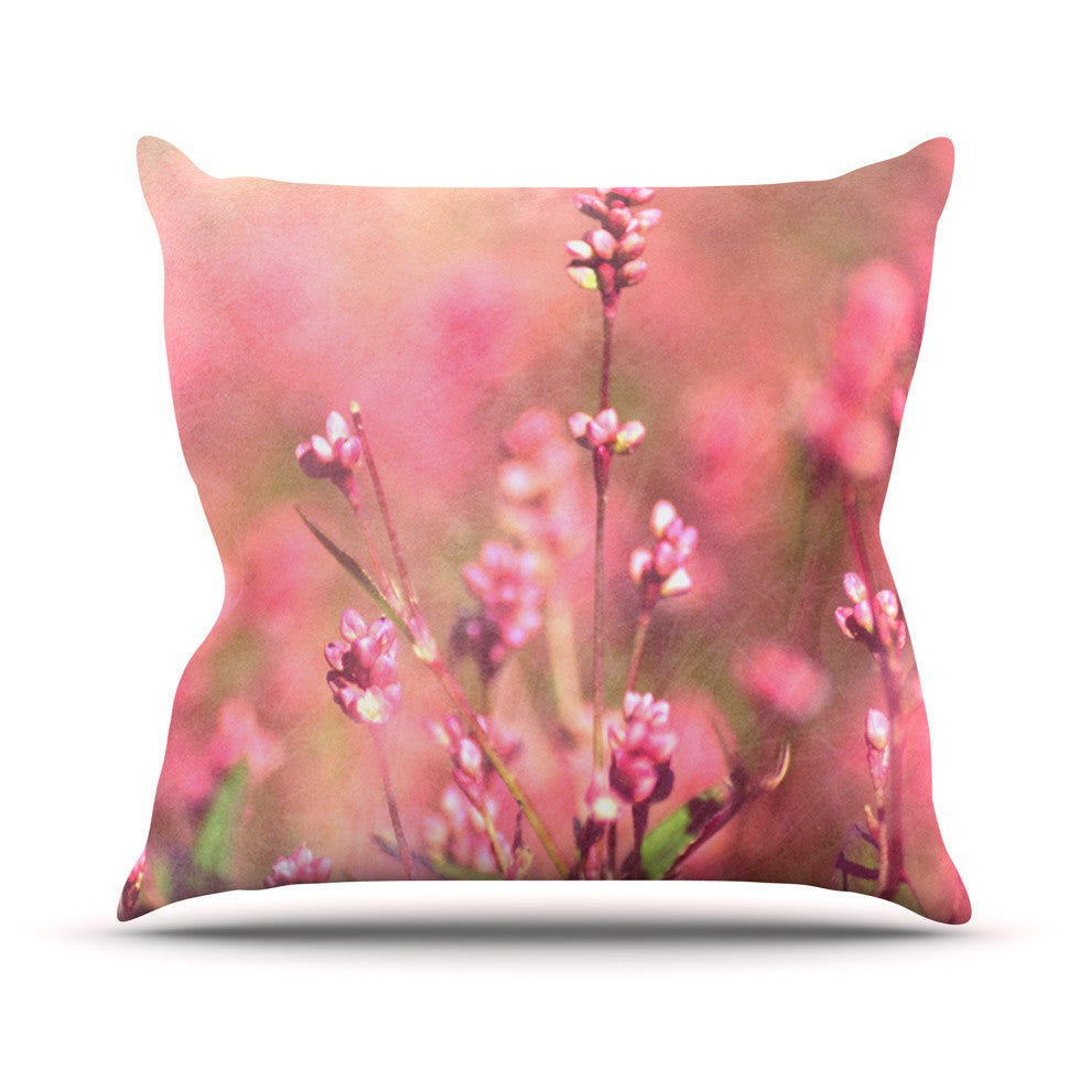 "Robin Dickinson ""Its a Sweet Sweet Life"" Flowers Outdoor Throw Pillow - KESS InHouse  - 1"