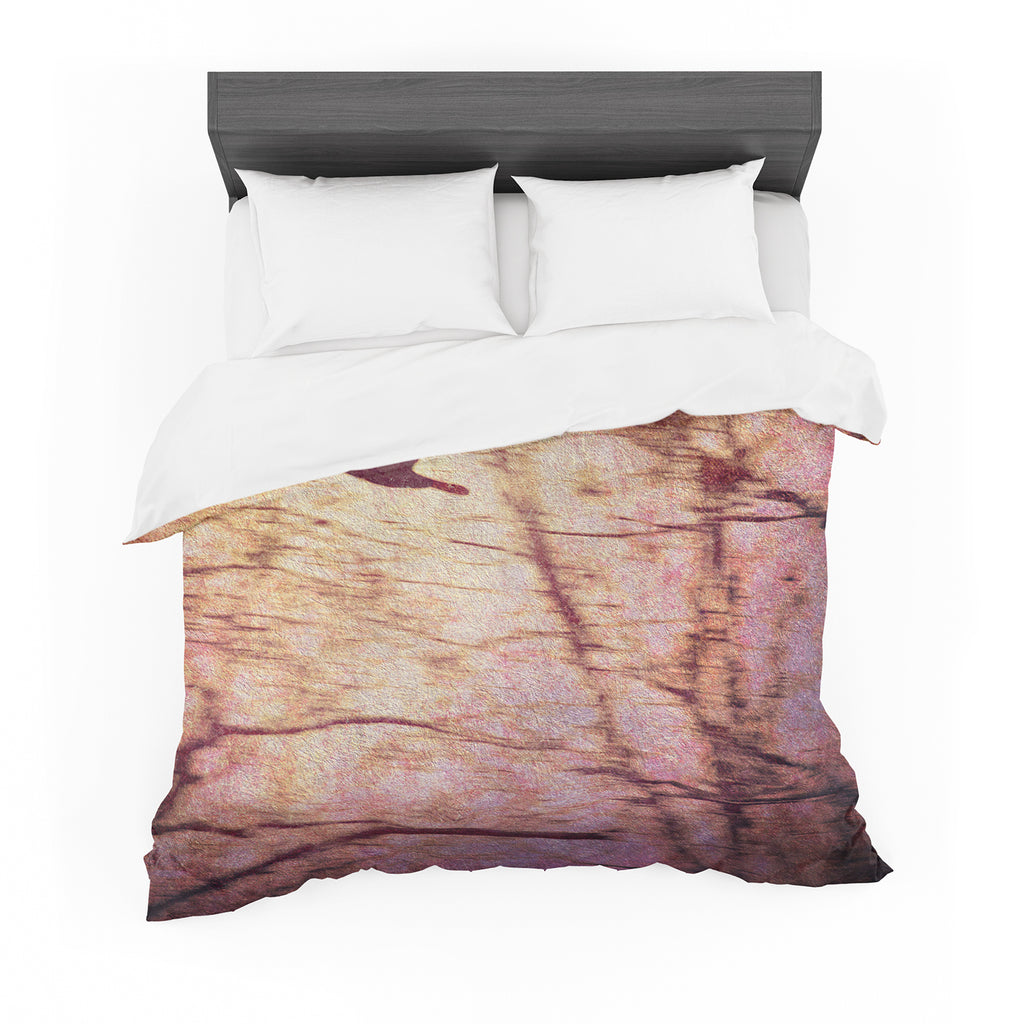 "Robin Dickinson ""Midnight Dreary"" Pink Tree Cotton Duvet"