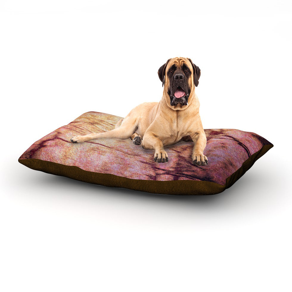 "Robin Dickinson ""Midnight Dreary"" Pink Tree Dog Bed - KESS InHouse"