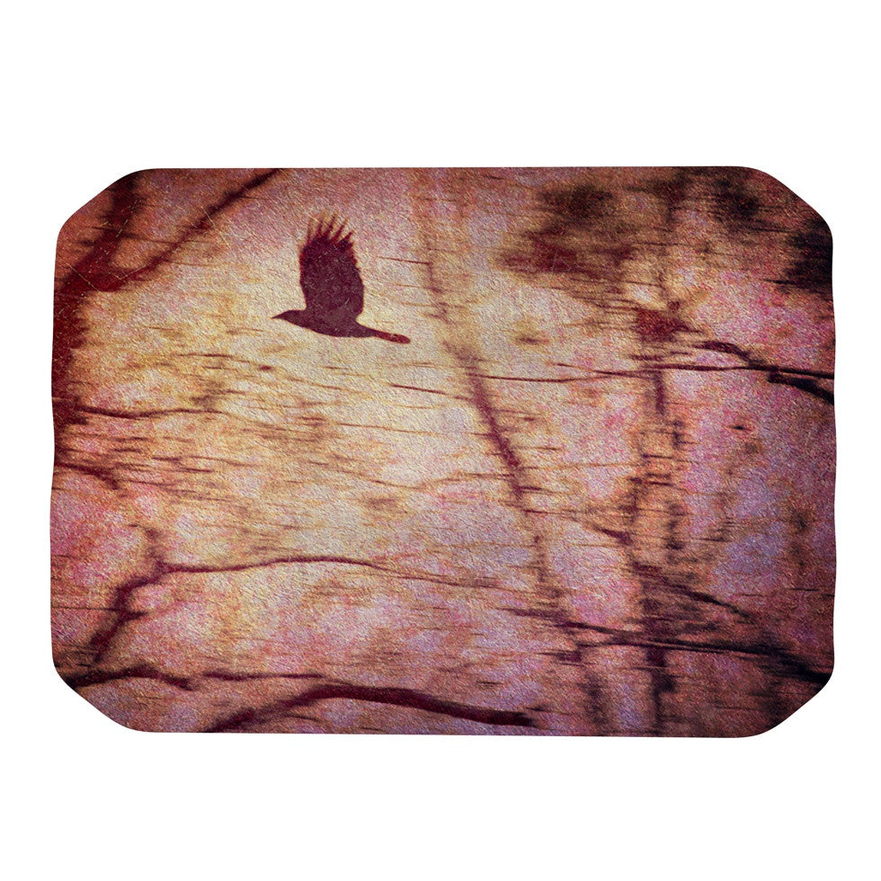 "Robin Dickinson ""Midnight Dreary"" Pink Tree Place Mat - KESS InHouse"