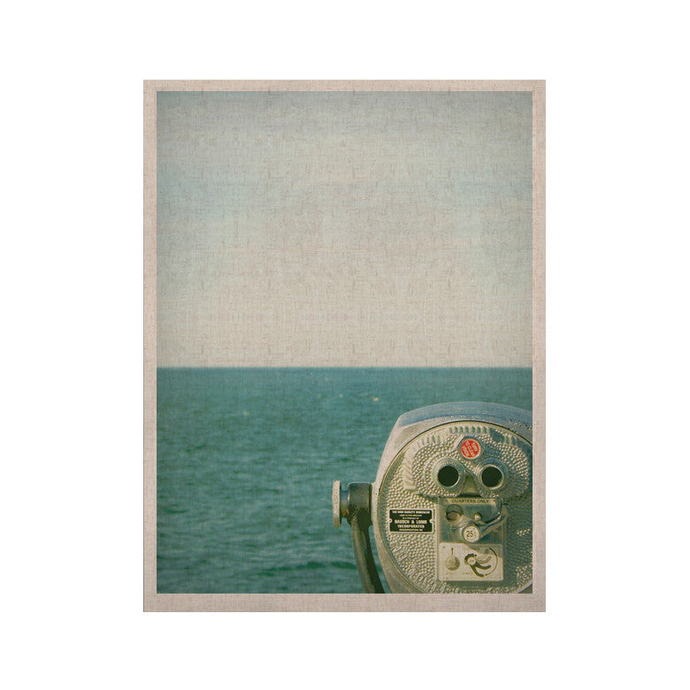 "Robin Dickinson ""Ocean View"" Ocean Blue KESS Naturals Canvas (Frame not Included) - KESS InHouse  - 1"