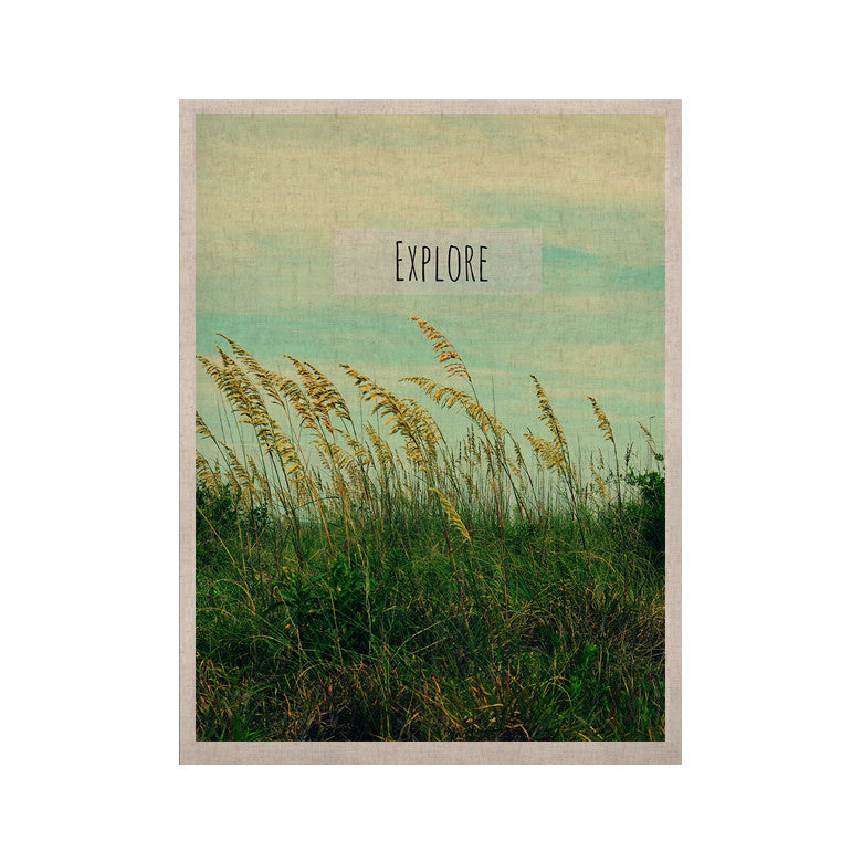 "Robin Dickinson ""Explore"" Quote Green KESS Naturals Canvas (Frame not Included) - KESS InHouse  - 1"