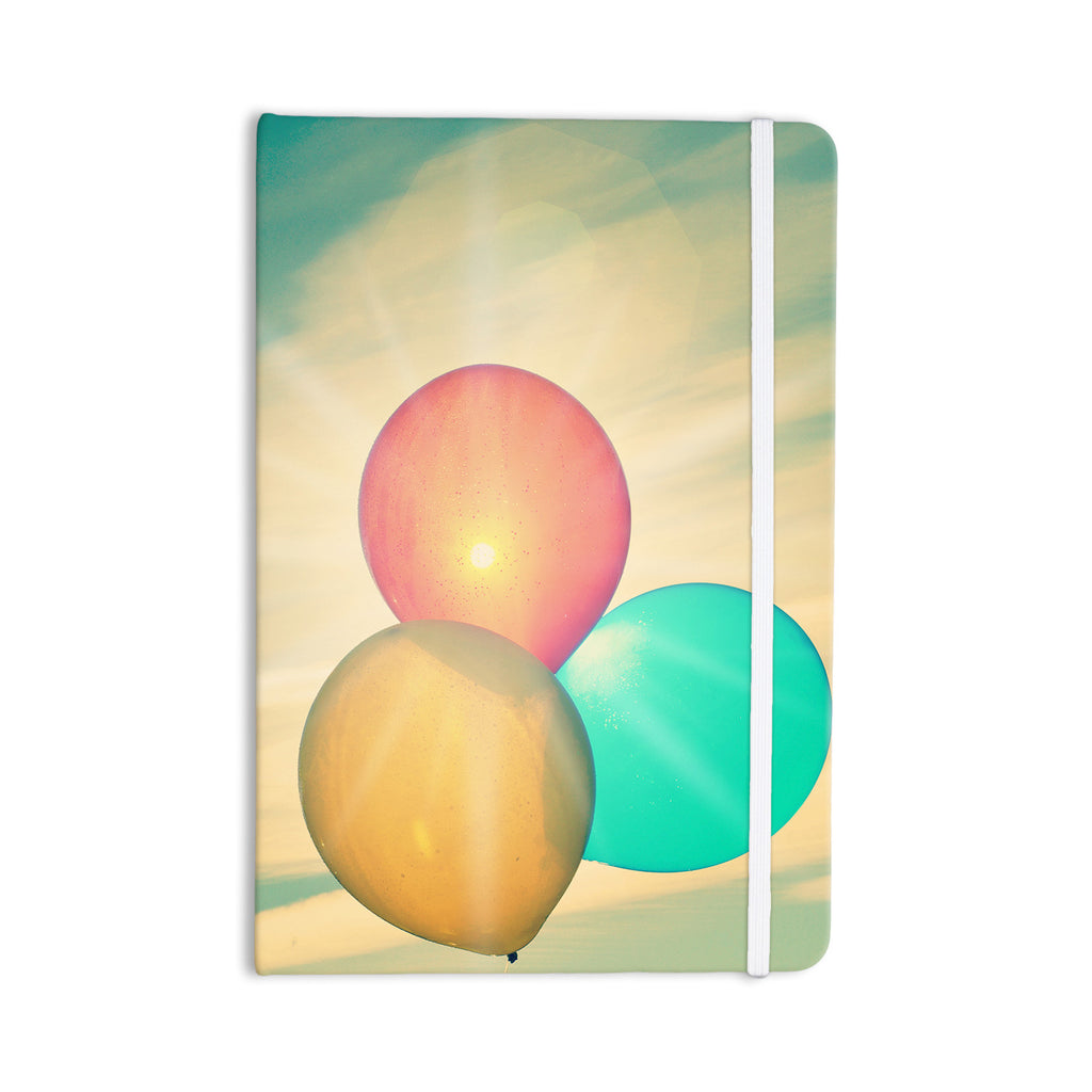 "Robin Dickinson ""Balloons"" Tan Clouds Everything Notebook - KESS InHouse  - 1"