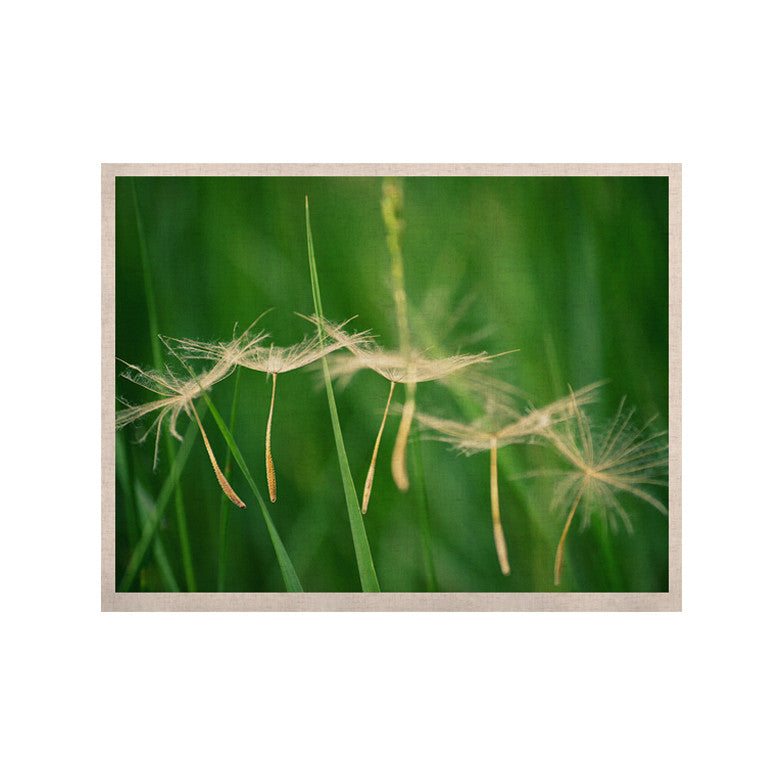 "Robin Dickinson ""Best Wishes"" Green Flower KESS Naturals Canvas (Frame not Included) - KESS InHouse  - 1"