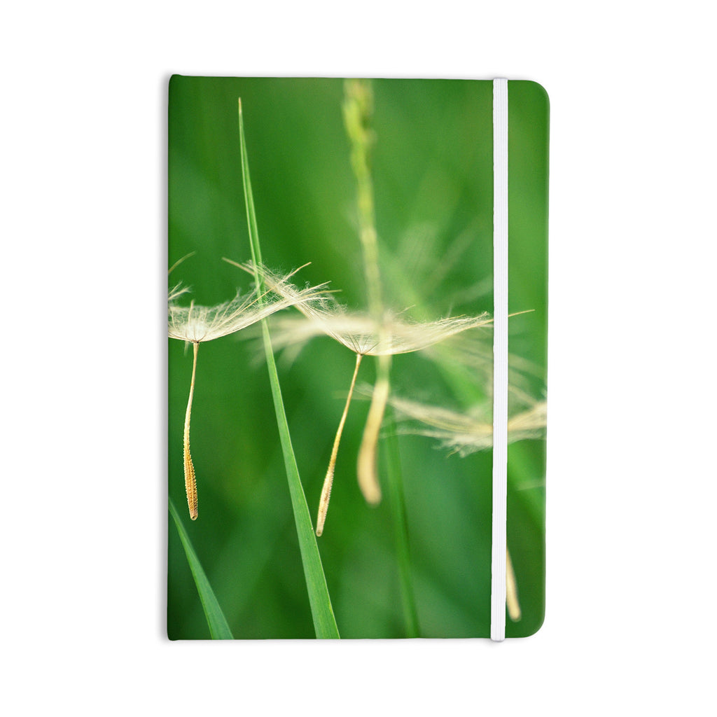 "Robin Dickinson ""Best Wishes"" Green Flower Everything Notebook - KESS InHouse  - 1"