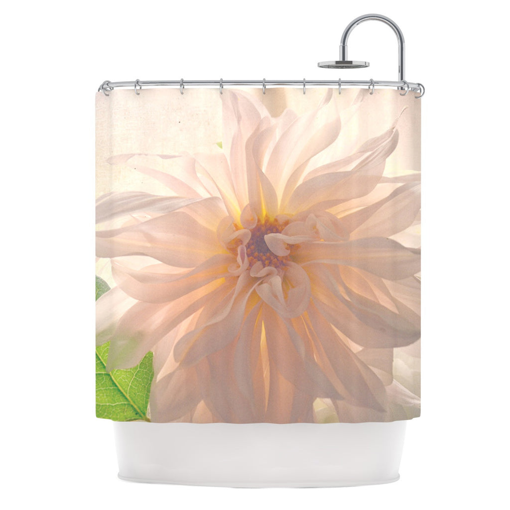 "Robin Dickinson ""Buy Her Flowers"" White Pink Shower Curtain - KESS InHouse"
